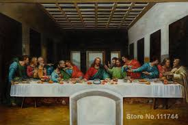 the last supper by leonardo da vinci most famous oil paintings hand painted reion in painting calligraphy from home garden on aliexpress com