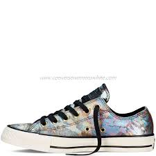 converse for sale. converse womens low top chuck taylor all star iridescent leather - black,converse sale for