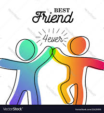 High Five Design Happy Friendship Day Card Of Friend High Five