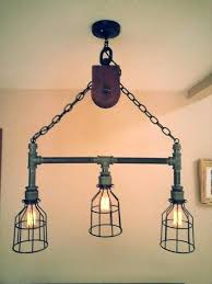 galvanized pipe lighting iron pipe light fixture hanging industrial pipe pulley light with 3 intended for galvanized pipe lighting