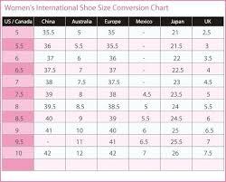 32 Rational Shoe Brand Size Comparison Chart
