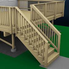 ilration of deck stairs this deck already has wood decking