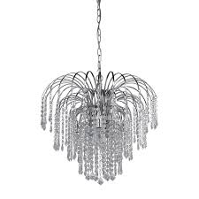 canarm olivia 19 in 4 light chrome crystal crystal waterfall chandelier