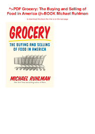 Ruhlman Ratio Chart Pdf Grocery The Buying And Selling Of Food In America