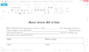 Bill Of Sale Contract Template Vehicle Sold As Is Used Car