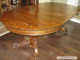 amazing antique oak furniture with dining table tiger oak pedestal dining table