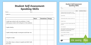 Self Review Template New Presentation Skills Evaluation Template ...
