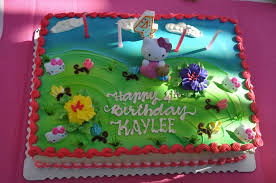 Love our Hello Kitty Cake 1 2 sheet for $69 Fresh strawberries