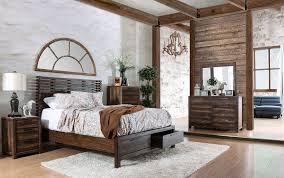 Rustic Bedroom Set With Storage,rustic bedroom set with storage,Rustic  Natural Tone Panel Storage Bedroom Set, CM7576DR-Q, Furniture