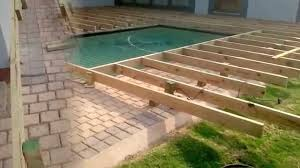 Wood Pool Deck Building A Wooden Pool Deck Youtube