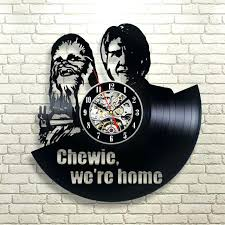 star wars wall clock star wars wall clock decor vintage black vinyl gift room wedding party star wars wall clock