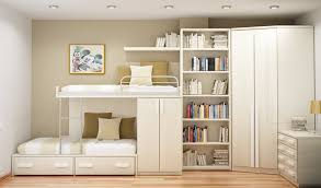 Space Saving Cabinet Bedroom Alluring Space Saving Bedroom Design With White Wood