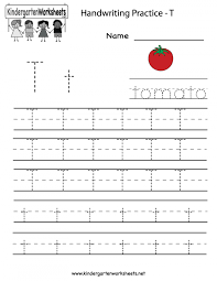 Letter T Worksheets For Kindergarten Writing Free Kids Under ...