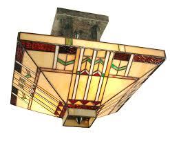 craftsman mission san carlos semi flush mount ceiling fixture dale tiffany th70332