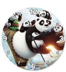 Kung Fu Panda 3 Şekilli Duvar Saati- Çiçeksepeti