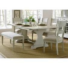 liberty furniture bridgeport 6 piece trestle table set dining room