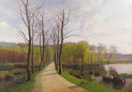spring landscape painting spring landscape by hans brasen