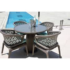 journey round dining table with four chairs