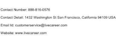 live career resume  customer service phone number toll   live career resume customer service number