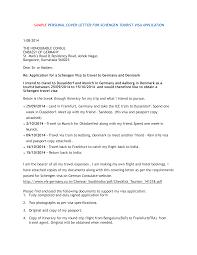 Visa Application Cover Letter Visa Application Cover Letter Templates At