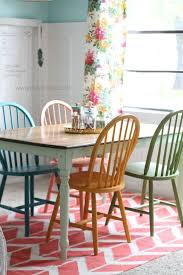 kitchen chairs painted diffe colors