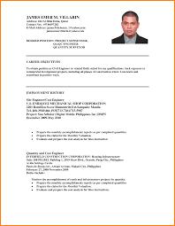 Resume Objective Civil Engineer Rome Fontanacountryinn Com