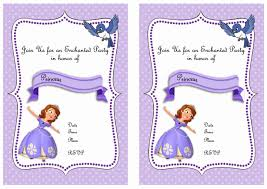 sofia the first birthday invitations birthday printable sofia the first birthday invitations