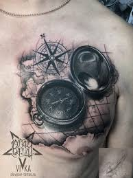 компас и карта перекрытие старой тату на груди сделать тату у