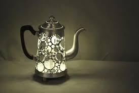 recycled teapot lamp beautiful lighting