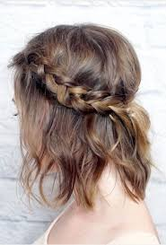 half up messy french braid for short hair