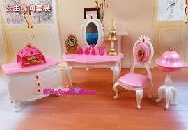 barbie size dollhouse furniture set. Extravagant Barbie Dollhouse Furniture Sets Doll Toy Dresser Chair Set Bed Room Princess Size Y