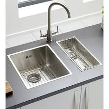 installing stainless steel kitchen sink for art exhibition stainless steel double kitchen sink