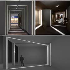 Photo Frame Light Design Led Wall Lamp Aisle Corridor Doors Windows Lighting Lines Light Frame Lights Designer Porch Sconce Lights Fixtures