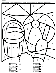 Coloring Pages Free Multiplication Color By Number Worksheets