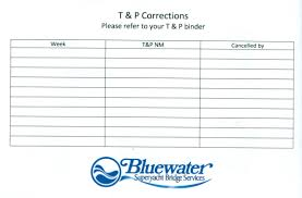 T P Correction Chart Labels Set Of 35