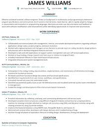 Software Engineer Resume Template Utah Staffing Companies