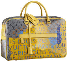 louis vuitton 2008 handbag collection. sac weekender in toile monogram pulp jaune created collaboration with richard prince, spring/summer 2008 louis vuitton handbag collection