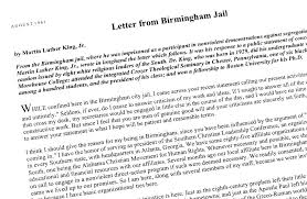 martin luther king jr letter from birmingham jail we share the  martin luther king jr letter from birmingham jail letter from jail martin luther king jr letter