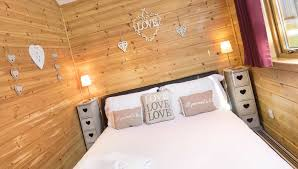 Log Cabin Bedroom The Love Cabin Most Romantic Log Cabin With Hot Tub In Scotland