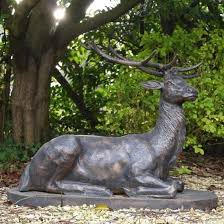 large life size bronze stag sculptures