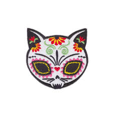 Day Of The Dead Skull Designs Us 10 65 35 Off Designs Cat Sugar Skull Gato Muerto Iron On Patch Day Of The Dead Dia De Los Muertos In Patches From Home Garden On Aliexpress
