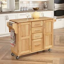 Kitchen Center Home Styles Natural Breakfast Bar Kitchen Cart With Wood Top
