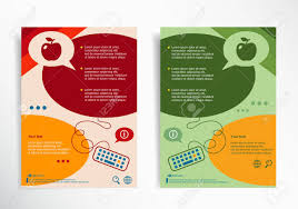 Apple Flyer Templates Apple Sign On Abstract Brochure Design Set Of Corporate Business