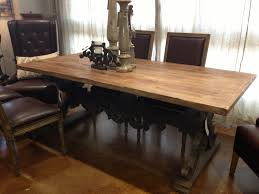 Iron Wood Dining Table Wrought Iron Candle Holder Table Centrepiece Idea In Rustic Dining