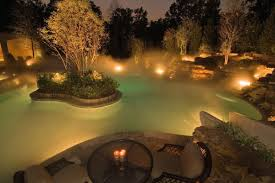 beautiful lighting. View In Gallery Garden Water Feature Lighting With Mist Beautiful R