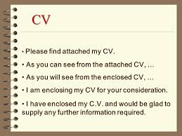 How to write a covering letter to go with a cv.