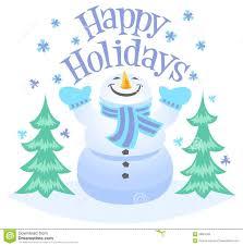 Holidays Snowman Happy Holidays Snowman Stock Vector Illustration Of Holidays 33801505