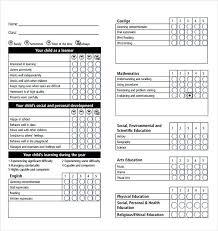 School Report Card Format Excel Microsoft Excel Report Card