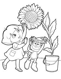 Dora The Explorer Coloring Pages The Explorer Coloring Pages Inside