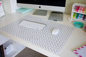ikea office mat. IKEA Desk Pad Covered With Grey And White Chevron Contact Paper More Ikea Office Mat